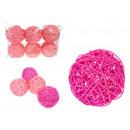 Rotan ballen 10 cm - 6 kunstreeks (romige,