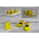 Polli di Pasqua  sul fermaglio 5 cm - set 6