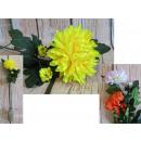 Gambi di fiori di crisantemo 87 cm, 1 fiore + 2 bo