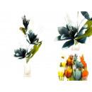 Großhandel Kunstblumen: Dekorative Blumen mit Glitzer