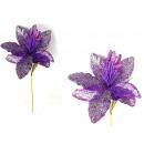 Fiore decorativo con glitter