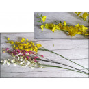 Long orchid flower, small, 2 stalks 80 cm