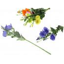 Flower twig platycodon 3 flowers + 3 buds 80 cm -