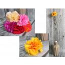 wholesale Decoration: Carnation flower stem (height 60 cm, flower 7 cm)