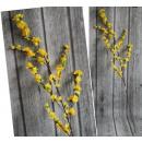 Virágszár sárga virágok barna szár 110 cm