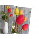 ingrosso Home & Living: Fragola di frutta  decorativa da fiore 35 cm - 1 ga