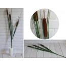 Brown cane flower sticks 3 piece with grass tall