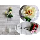 Virág rózsa 3 virág (magasság 60 cm, virág 11 cm)