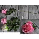Fiore rosa espanso pastello 62x10 cm