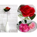 Rose flower with additions stem (height 41 cm, flo