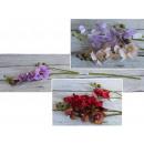 Fiori di orchidea 3 gambi di 65 cm