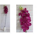 Orchidea virág hosszú szár 100 cm # 156 - sötét ró