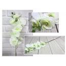 nagyker Dekoráció: Fehér orchidea virág, hosszú szár 82 cm