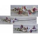 Stelo di orchidea fiorito, 72 cm