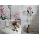Fleur artificielle, ajout d'ail 3 fleurs 65x9