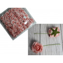 wholesale Artificial Flowers: Artificial foam flower rose, rosette with wire