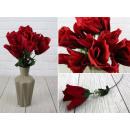 nagyker Művirágok: Művirág vörös rózsa fehér kiegészítéssel 40