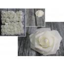 Virág mesterséges rózsa, rózsaszirom krémmel