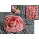 wholesale Artificial Flowers: Flower artificial rose, pink rose with pink wire 1