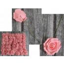 Virág mesterséges rózsa, rózsaszín rózsa, rózsaszí