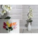 Fleur d'orchidée artificielle 9 fleurs 50 cm m