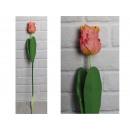 Fiore di tulipano artificiale, gambo rosa (64x8 cm