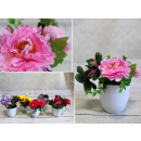 wholesale Artificial Flowers: Artificial flower in a pot 15x9 cm 9 flowers mix i