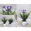 Mesterséges virág egy bankban 21x7,5 cm 4 virág és