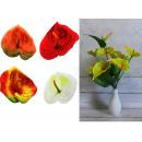 Calla csokor 9 virágból, szár + fej 50x14 cm