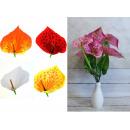 nagyker Dekoráció: Calla csokor 9 virágból, szár + fej 50x14 cm