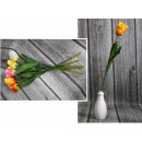 wholesale Decoration: Tulip flower wavy stem (height 60 cm, flower 8