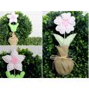 Fiore decorativo 26x9 cm mix di disegni e colori -
