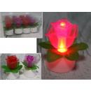 LED in plastica rosa brillante per batterie 5,5x3,