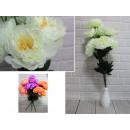 Mesterséges virágok bazsarózsa 9 virág 70 cm, szín