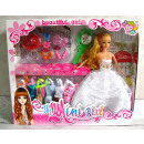 wholesale Toys: Doll + accessories  in cardboard box with handle