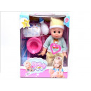 Baby doll + accessories in cardboard box