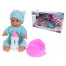 Baby doll che produce suoni + accessori 33x18x14