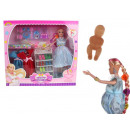 Großhandel Kleider: Schwangere Mutter Puppe + Kleider und Accessoires