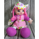 wholesale Toys: Rag doll in a hat with 64 cm braids