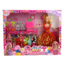 wholesale Jewelry & Watches: Doll in a box with  dresses, suitcase and jewelery