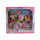 Bambola con bicicletta + accessori in scatola 36x3