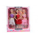 Bambole in 3 pezzi con trecce lunghe + accessori i