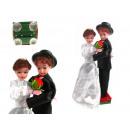 Poupées jeune couple, mariage sur przylepcach 35x1