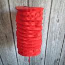 nagyker Lámpások: Dekoratív papírlámpa 16x25 cm - piros