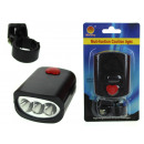wholesale Bicycles & Accessories: 3 led front bicycle light with 16x9.5 blister