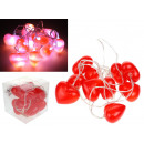 10 luces LED decorativas con pilas de LED rojo