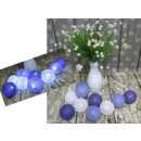 grossiste Ampoules: LED boule de coton  6 cm 10 art blanc - fiol