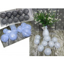 wholesale Lampes: Led cotton ball lights 6 cm 10 piece with silver n