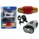 wholesale Bicycles & Accessories: Bicycle lights front + rear (hy-8 # 158) 15,5x21