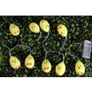 Húsvét sárga csirke fényei (10 fény, 1,